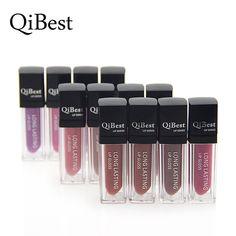 Sexy HOT Qibest Brand Make Up Matte Lip Gloss12 Colors Makeup Velvet Non Stick Cup Waterproof Lipstick Long Lasting Sticker. Yesterday's price: US $1.60 (1.32 EUR). Today's price: US $1.60 (1.32 EUR). Discount: 44%.