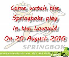 Let us take you to the SA vs Argentina rugby this weekend. #springboks #mbombela - Limetime Blog