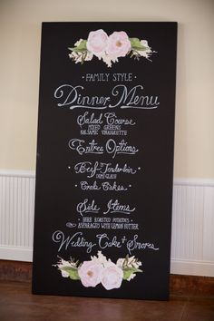 Sweet family style menu: http://www.stylemepretty.com/north-carolina-weddings/wilmington-nc/2015/10/02/classic-black-tie-north-carolina-coast-wedding/ | Photography: Theo Milo - http://theomilophotography.com/