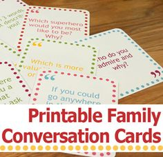 Speed dating question cards for students