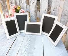 Wedding Chalkboards, Table Markers, Chalkboard Table Numbers, Ivory Set of 10