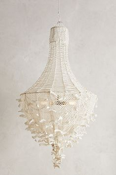 """Hand-Knotted Chandelier #anthropologie, to look like birds, also in black.  55"""" h, 31"""" d, $1,698"""