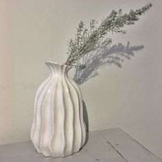 I'm looking forward to spring flowers but for now a little bit of greenery will do!  This wavy vase is one of my favourite from the new collection and is available online now . . . #shopping #shopsmall #shoponline #shoplocal #whiteinterior #allwhite #interior #interiorinspo #interiors #scandistyle #scandinavianstyle #scandi #wavy #vases #instagood