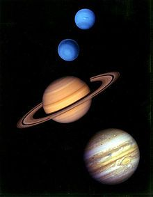 Neptune, Uranus, Saturn & Jupiter