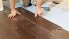 How to Install Laminate Flooring on Concrete As many new homes are starting to attest, laminate flooring is a great alternative to more traditional flooring options. Hand Scraped Laminate Flooring, Fake Wood Flooring, Best Laminate, Installing Laminate Flooring, Oak Laminate Flooring, Flooring Options, Floor Design, Basement Remodeling, Modern