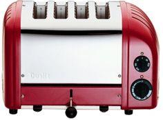 Dualit Classic Vario AWS Red 4 Slot Toaster