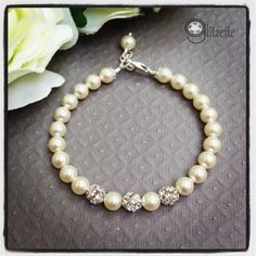 Christmas gift for her Wedding Jewelry bridal pearl by Glitzette, $24.00