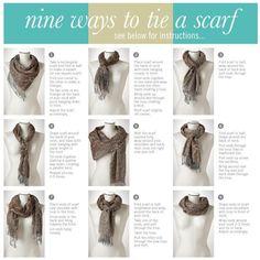 How to tye a scarf