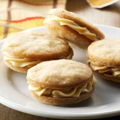 Chai Tea Sandwich Cookies Recipe -You'll love these cookies filled with a dreamy chai-infused ganache. They're great after a meal, with a cup of tea, as a breakfast treat—or anytime at all. —Lauren Knoelke, Milwaukee, Wisconsin