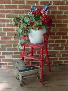 very pretty for the porch.use an old chair