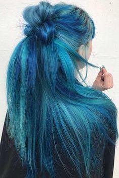 Ocean Blue Half Up Knot