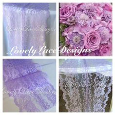 Lacender Weddings /Lavender Lace Table Runner by LovelyLaceDesigns