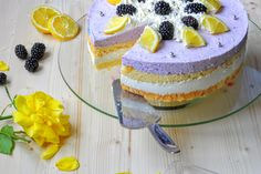 Brombeer-Buttermilch-Torte Blueberry Cake, Cheesecake, Food And Drink, Baking, Eat, Desserts, Cakes, Delicious Food, Food And Drinks