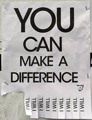 YOU can MAKE a DIFFERENCE! Dare to share and INSPIRE change!