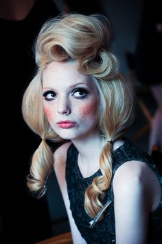 I love this hair! Would enjoy doing a shoot in which we are portraying porcelain dolls.