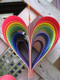 Rainbow wedding decorations... --- $24.00, via Etsy.