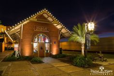 """Passing By the Fernandina Train Station, Amelia Island, Florida<br /> <br /> """"The Florida Railroad Company was incorporated January 8, 1853, with David L. Yulee as president. The line received both federal and state land grants. Despite early financial difficulties, construction was begun from Fernandina, where the main office was located, in 1856. The Final trackage to Cedar Key was lain March 1, 1861, and Florida had its first cross-state railroad."""" (waymarking)"""