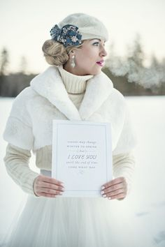 A Winter in Vermont - One to Wed--cute and warm for outside shots. More photos on this site.