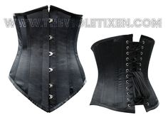 Waist training. We don't talk too much about this, but it's a great way to train your stomach fat away and reshape your curves for special occasions. This is our best selling waist trainer! Easy to use, great for beginners and easy to add to many many outfits. Steel boned of course!   http://thevioletvixen.com/corsets/black-satin-queen-underbust-black-corset/