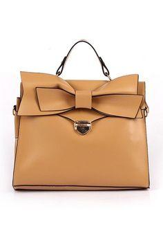 Sweet Square Bowknot Embellished Handbag