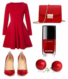 """""""X-Max"""" by ersilialupis on Polyvore featuring WithChic, Christian Louboutin and Chanel"""