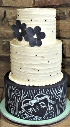 Rustic Chalkboard Cake