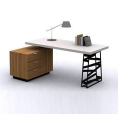 This is a really cool desk and practical too. Probably the winner. Office Table Design, Office Furniture Design, Luxury Furniture, Modern Furniture, Furniture Ideas, Kitchen Furniture, Office Decor, Cheap Furniture Stores, Discount Furniture