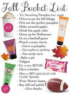 Perfectly posh fall bucket list!! Https://michelleauvil.po.sh