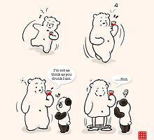 «Drunk As A Polar Bear» de Panda And Polar Bear