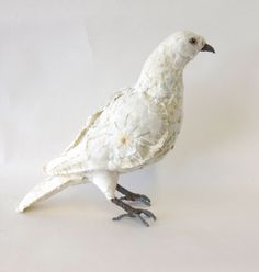 Dove with hand embroidery is in my Etsy shop https://www.etsy.com/uk/listing/525213866/dove-textile-bird