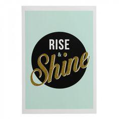Rise and shine A4 art print