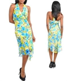'Knee Length Chiffon Floral dress. Sz- S, M- Choose' is going up for auction at  3pm Tue, Apr 2 with a starting bid of $15.
