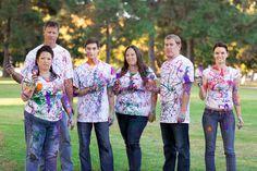 Family Portrait. Paint Wars 2013. Heartwell Park, Long Beach California