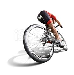 Isolated athlete cyclists royalty-free stock photo