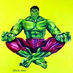 Hulk meditate #popart #yoga #oilpainting #marvel #meditate #hulk #yogi #art #popartist #instaart #popsurrealism #instagood #comics #artist #artistsoninstagram #contemporaryart #modernart #painting #arte #artista #kunst #artwork #comic #pop