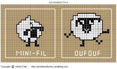 Shaun the sheep Knitting Charts, Knitting Stitches, Baby Knitting, Knitting Patterns, Cross Stitch Designs, Cross Stitch Patterns, Cross Stitching, Cross Stitch Embroidery, Cross Stitch Animals