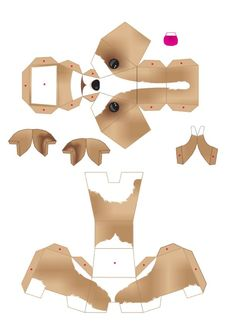 Blog Paper Toy papertoys puppies template 1 preview Puppies papertoys de Julius Perdana