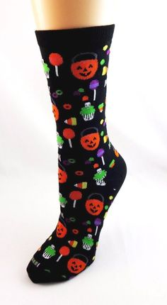 Bat Halloween Crew Socks Gray Black Womens 9-11 NWT