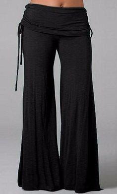 Women Long Flared Wide Leg Pants