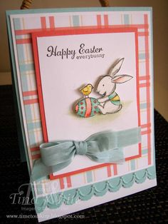 Stampin' Up! Australia - Tina White - Time to Ink Up - Independent Stampin' Up! Demonstrator: Everybunny Easter Set.  :))