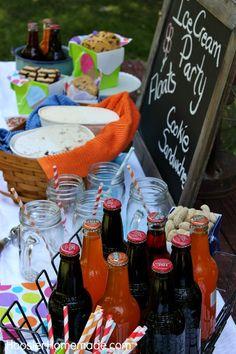 How to Host an Ice Cream Party :: on HoosierHomemade.com