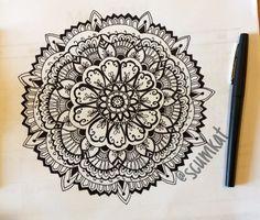 Mandala Designs, d3sir3mari3: another doodle by me. IG: @Katie Nicole...