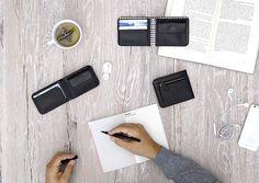 Men's wallet line in black - LOST & FOUND accessoires Lost & Found, Men's Accessories, Wallet, Black, Accessories, Black People, Men Accessories, Handmade Purses, Diy Wallet