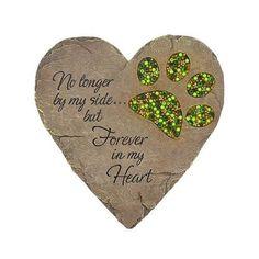 Pet Memorial Rock Garden Plaque Dog Cat Paw Heart Keepsake Cemetery Grave Statue #PetMemorialRock