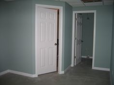 Wythe Blue in a room with no windows...LOVE!  Definitely using this color.