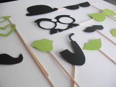 Lot Photobooth Mariage Vert et Noir : Loisirs créatifs, scrapbooking par accessoires-photobooth