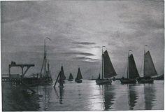Die Kunst in der Photographie : 1901 Photographer: Johan F.J. Huysser Title: Im Fischerhafen