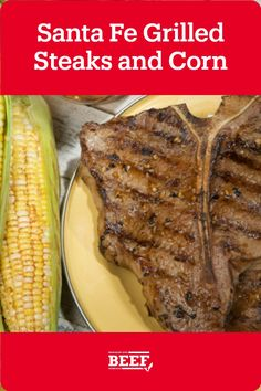 A simple chili glaze is used as a spicy finishing touch for savory butter on grilled corn and steaks. Easy Campfire Meals, Campfire Recipes, Campfire Food, How To Grill Steak, Beef Steak, T Bone Steak, Grilled Beef, Steaks, Glaze