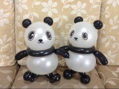 造型氣球 簡單貓熊 easy panda balloon twisting - YouTube