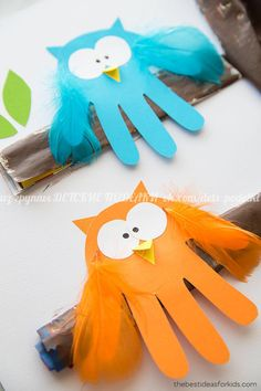 """"""""""" 36 Thanksgiving Crafts That Will Keep the Kids Occupied All Day """""""" 36 Easy Thanksgiving Crafts for Kids – Thanksgiving DIY Ideas for Children """""""" Owl Crafts, Paper Crafts For Kids, Baby Crafts, Decor Crafts, Toddler Crafts, Preschool Crafts, Preschool Halloween, Halloween Crafts, Diy Thanksgiving Crafts"""